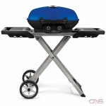 "Napoleon Grills TQ285X-BL-1 BBQ Grill, 19 1/4"" Width, Portable, Liquid Propane, 2 Burners, 285 sq. in. Cooking Area, Cast Iron Grate Construction, 12K BTU, Blue colour"