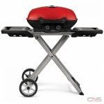 "Napoleon Grills TQ285X-RD-1-A BBQ Grill, 19 1/4"" Width, Portable, Liquid Propane, 2 Burners, 285 sq. in. Cooking Area, Cast Iron Grate Construction, 12K BTU, Red colour"
