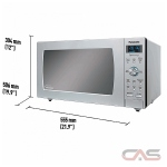 Panasonic NNSD786S Countertop Microwave, 1200 Watts, 1.6 cubic ft