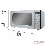 Panasonic NNSE796S Countertop Microwave, 20 Exterior Width, 1200 Watts, 1.6 Capacity, Stainless Steel colour