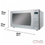 Panasonic NNSE996S Countertop Microwave, 24 Exterior Width, 1200 Watts, 2.2 Capacity, Stainless Steel colour