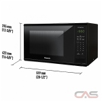 Panasonic NNSG626B Countertop Microwave, 1100 Watts, 1.3 cubic ft