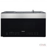Panasonic NNSG158S Over the Range Microwave, 30 Exterior Width, 1000W Watts, 1.9 cu. ft. Capacity, LED, 400 CFM, Stainless Steel colour