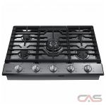 Samsung NA30K6550TS Cooktop, Gas Cooktop, 30 inch, 5 Burners