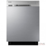 Samsung DW80J3020US Built-In Undercounter Dishwasher, 24 Exterior Width, 4 Wash Cycles, Stainless Steel (Interior), 2 Loading Racks, Full Console, 15 Capacity (Place Settings), Hard Food Disposal, 50 dB Decibel Level, Stainless Steel colour