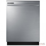 Samsung DW80M2020US Built-In Undercounter Dishwasher, 24 Exterior Width, 3 Wash Cycles, 2 Loading Racks, Fully Integrated, 14 Capacity (Place Settings), 55 dB Decibel Level, Stainless Steel colour