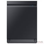 Samsung DW80R9950UG Built-In Undercounter Dishwasher, 24 Exterior Width, 7 Wash Cycles, Stainless Steel (Interior), 3 Loading Racks, Fully Integrated, 15 Capacity (Place Settings), 39 Decibel Level, Wifi Enabled, Black Stainless Steel colour