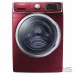 Samsung DV42H5600EF Dryer, 27'' Width, Electric Dryer, 7.5 Cu. Ft. Capacity, 13 Dry Cycles, 5 Temperature Settings, Stackable, Steel Drum, Steam Clean, Red Wine colour