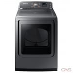 Samsung DVE52M7750P Dryer, Electric Dryer, 7.4 Cu. Ft. Capacity, 11 Dry Cycles, 4 Temperature Settings, Steam Clean, Platinum colour