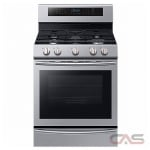 Samsung NX58M6650WS Range, Gas Range, 30 Exterior Width, Self Clean, Convection, 5 Burners, Sealed Burners (Gas), Warming Drawer, 5.8 cu. ft. Capacity, 1 Ovens, Free Standing, Wifi Enabled, 20000 BTU Highest Burner, Stainless Steel colour
