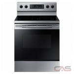 Samsung NE59K3310SS Range, Electric Range, 30'' Exterior Width, 5 Burners, Glass Burners (Electric), Storage Drawer, 5.9 cubic ft, 1 Ovens, Free Standing, 3000W