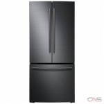 Samsung RF220NCTASG French Door Refrigerator, 30 Width, Freezer Located Ice Dispenser, 21.6 Capacity, LED Lighting, Black Stainless Steel colour