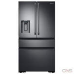 Samsung RF23M8090SG French Door Refrigerator, 36 Width, Thru Door Ice Dispenser, 22.7 Capacity, Counter Depth, Exterior Water Dispenser, LED Lighting, ENERGY STAR Certified, Black Stainless Steel colour