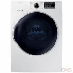 "Samsung DV22K6800EW Dryer, 24"" Width, Electric Dryer, 4.0 cu. ft. Capacity, 12 Dry Cycles, 5 Temperature Settings, Stackable, Steel Drum, Wifi Enabled, White colour"