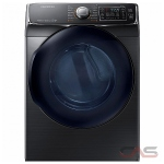 Samsung DV50K7500EV, 27 Width, Electric Dryer, 7.5 Capacity, 14 Dry Cycles, 5 Temperature Settings, Stackable, Steel Drum, Steam Clean, Wifi Enabled, Black Stainless Steel colour