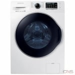 "Samsung WW22K6800AW Compact Washer, 24"" Width, 2.6 cu. ft. Capacity, 12 Wash Cycles, 5 Temperature Settings, Stackable, 1400 RPM Washer Spin Speed, Steam Clean, ENERGY STAR Certified, White colour"