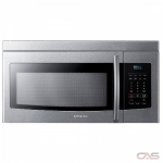 Samsung ME16K3010AS Over the Range Microwave, 30 Exterior Width, 950W Watts, 1.6 cu. ft. Capacity, LED, 300 CFM, Stainless Steel colour