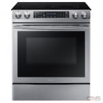 Samsung NE58M9430SS Range, Electric Range, 30'' Exterior Width, Self Clean, Convection, 5 Burners, Glass Burners (Electric), Storage Drawer, 5.9 cubic ft, 1 Ovens, Slide In, 3000W