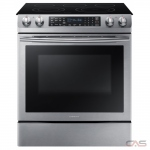Samsung NE58M9430SS Range, Electric Range, 30 inch, Self Clean, Convection, 5 Burners, Glass Burners (Electric), Storage Drawer, 5.9 cubic ft, 1 Ovens, Slide In, Stainless Steel colour
