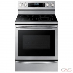 Samsung NE59N6650WS Range, Electric Range, 30'' Exterior Width, Self Clean, Convection, 5 Burners, Glass Burners (Electric), 5.9 cubic ft, 1 Ovens, Free Standing, Wifi Enabled, 3600W