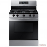 Samsung NX58M3310SS Range, Gas Range, 30 inch, 5 Burners, Sealed Burners (Gas), Storage Drawer, 5.8 cubic ft, 1 Ovens, Free Standing, Stainless Steel colour