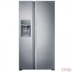 Samsung RH22H9010SR Side by Side Refrigerator, 36 Width, Thru Door Ice Dispenser, 21.5 Capacity, Counter Depth, Exterior Water Dispenser, LED Lighting, ENERGY STAR Certified, Stainless Steel colour