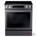 Samsung NE58K9500SG Range, Electric Range, 30 Exterior Width, Self Clean, Convection, 5 Burners, Glass Burners (Electric), Storage Drawer, 5.8 cu. ft. Capacity, 1 Ovens, Slide In, 3000W, Black Stainless Steel colour