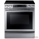 Samsung NE58K9560WS, Electric Range, 30 Exterior Width, Self Clean, Convection, 4 Burners, Induction Elements, Warming Drawer, 5.8 Capacity, 1 Ovens, Slide In, Wifi Enabled, 3300W, Stainless Steel colour