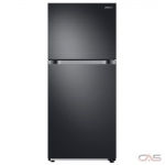 Samsung RT18M6213SG Top Mount Refrigerator, 28 Width, Optional Ice Maker (Special Order), 17.6 Capacity, LED Lighting, ENERGY STAR Certified, Black Stainless Steel colour