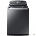 Samsung WA52M7755AP Top Load Washer, 27 Width, Energy Efficient, 6.0 Capacity, 13 Wash Cycles, 5 Temperature Settings, 800 Washer Spin Speed, Steam Clean, Platinum colour