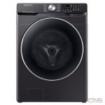 "Samsung WF45R6300AV Front Load Washer, 27"" Width, 4.5 cu. ft. Capacity, 12 Wash Cycles, 5 Temperature Settings, Stackable, Water Heater, 1200 RPM Washer Spin Speed, Steam Clean, Wifi Enabled, ENERGY STAR Certified, Black Stainless Steel colour"