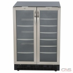 "Silhouette DBC2760BLS Beverage Center, 23 13/16"" Width, 27 Wine Bottle Capacity, Stainless Steel colour"