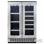 Silhouette DBC047D2BSSPR Beverage Center, 23.82 Width, Built In, Stainless Steel colour