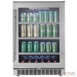 "Silhouette DBC056D2BSSPR Beverage Center, 23 13/16"" Width, Stainless Steel colour"
