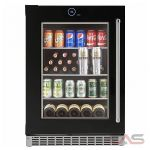 Silhouette SRVBC050L Beverage Center, 23 7/8 Width, Free Standing, Energy Efficient, Black colour