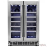 "Silhouette DWC047D1BSSPR Wine Cooler, 23 13/16"" Width, 42 Wine Bottle Capacity, Stainless Steel colour"
