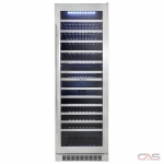 "Silhouette DWC140D1BSSPR Wine Cooler, 23 13/32"" Width, 129 Wine Bottle Capacity, Stainless Steel colour"