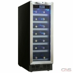 "Silhouette DWC276BLS Wine Cooler, 12 2/16"" Width, 27 Wine Bottle Capacity, Stainless Steel colour"