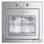 Smeg FU67-5 Single Wall Oven, 24 Exterior Width, Convection, 2.13 Capacity, Stainless Steel colour
