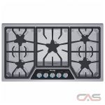 Thermador Masterpiece Series SGSL365KS Cooktop, Gas Cooktop, 36 inch, 5 Burners, Stainless Steel colour