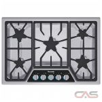 Thermador Masterpiece Series SGSX305FS Cooktop, Gas Cooktop, 30 inch, 5 Burners, Stainless Steel colour