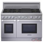 Thermador Professional Series PRG486GDH Range, Gas Range, 48 inch, Self Clean, Convection, 6 Burners, Sealed Burners (Gas), 6.6 cubic ft, Free Standing, Stainless Steel colour
