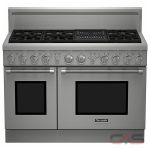 Thermador Professional Series PRG486NLH Range, Gas Range, 48 inch, Self Clean, Convection, 6 Burners, Sealed Burners (Gas), 6.6 cubic ft, Free Standing, Stainless Steel colour