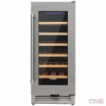 Thor Kitchen TWC1501 Wine Cooler, 15 Width, Free Standing & Built In, 33 Wine Bottle Capacity, Stainless Steel colour