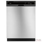 Whirlpool WDF330PAHS Built-In Undercounter Dishwasher, 24 Exterior Width, 3 Wash Cycles, 2 Loading Racks, Full Console, 13 Capacity (Place Settings), 55 dB Decibel Level, Stainless Steel colour