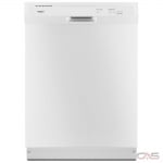 Whirlpool WDF330PAHW Built-In Undercounter Dishwasher, 24 Exterior Width, 3 Wash Cycles, 2 Loading Racks, Full Console, 13 Capacity (Place Settings), 55 dB Decibel Level, White colour