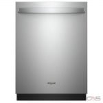Whirlpool WDT730PAHZ Built-In Undercounter Dishwasher, 24 Exterior Width, 5 Wash Cycles, 2 Loading Racks, Fully Integrated, 15 Capacity (Place Settings), 51 dB Decibel Level, Stainless Steel colour