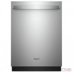 Whirlpool WDT750SAHZ Built-In Undercounter Dishwasher, 24 Exterior Width, 5 Wash Cycles, Stainless Steel (Interior), 2 Loading Racks, Fully Integrated, 15 Capacity (Place Settings), 47 dB Decibel Level, Stainless Steel colour