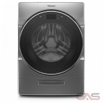 Whirlpool WFC9820HC Washer Dryer Combination, 27 Width, 5.2 Capacity, 15 Wash Cycles, 4 Temperature Settings, 1200 Washer Spin Speed, Wifi Enabled, Chrome Shadow colour