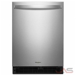 "Whirlpool WUR50X24HZ Under Counter Refrigeration, 24"" Width, Stainless Steel colour"
